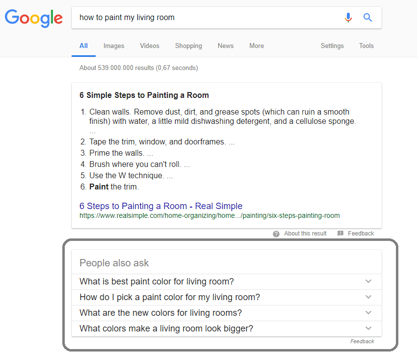 Featured snippet : People also ask